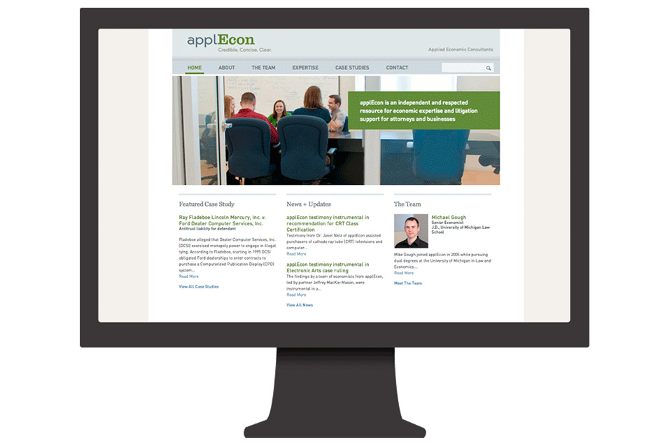 Q LTD Creates New Corporate Identity and Web Site for applEcon