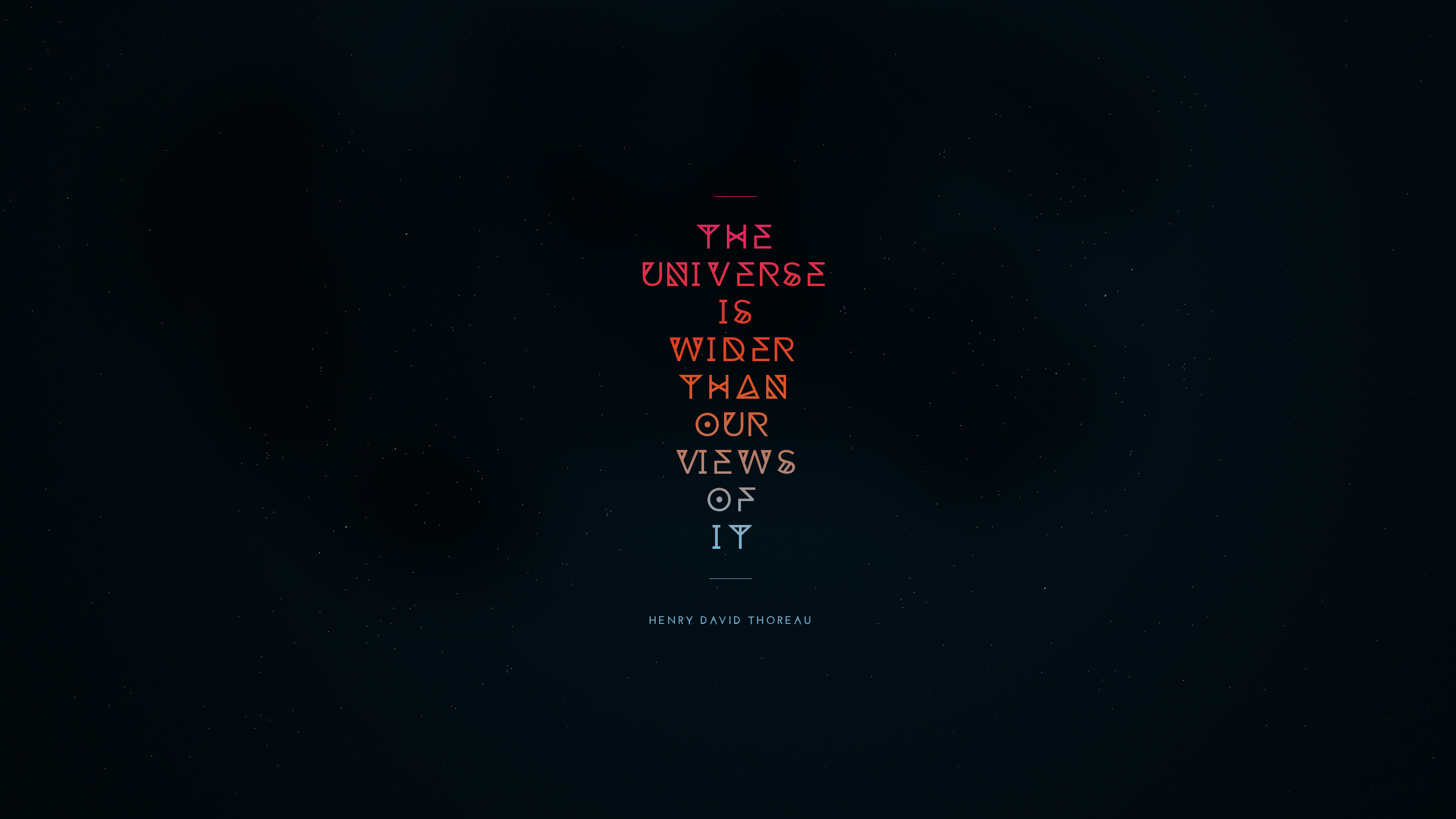 Q Wallpaper: The Universe is Wider