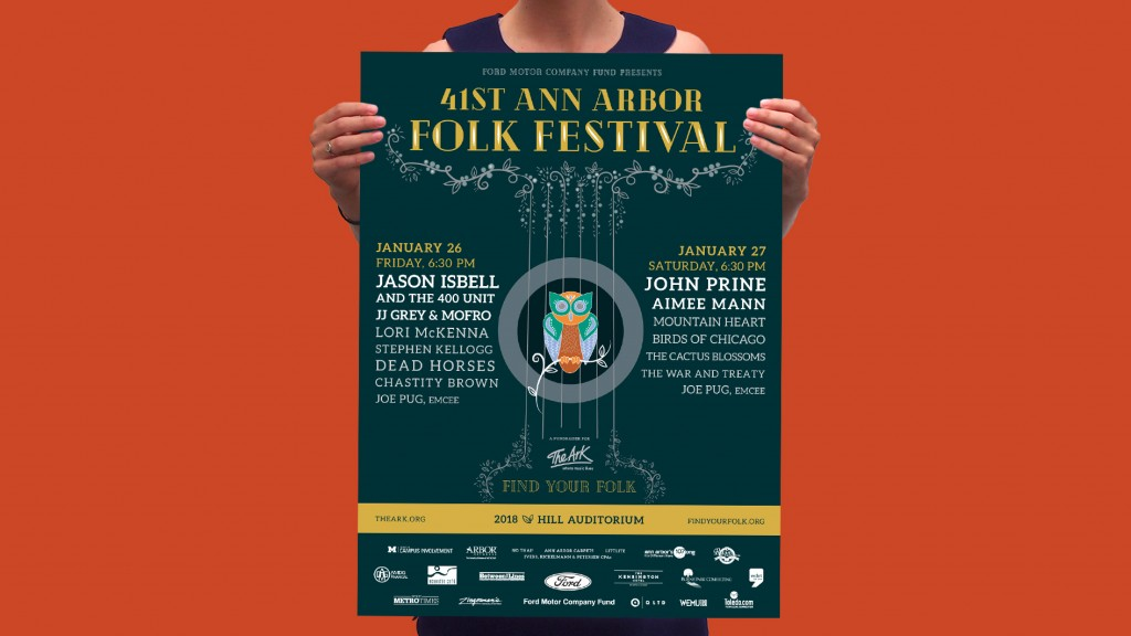 BRAND DESIGN FIRM Q LTD PROVIDES CREATIVE SERVICES TO THE ANN ARBOR FOLK FESTIVAL