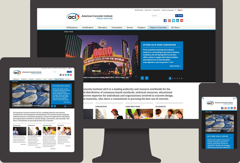 Q LTD and TUG Collaborate on New Web Site for American Concrete Institute